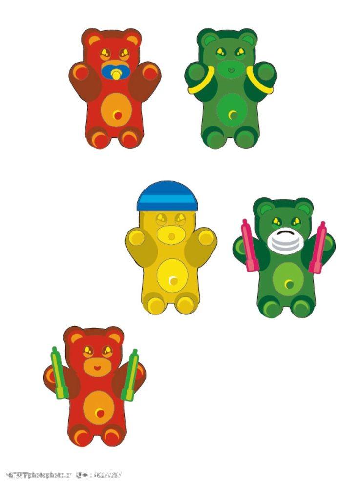 矢量动物熊图片