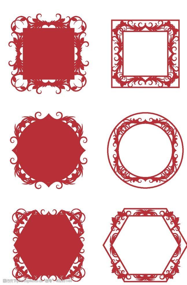 框架喜庆中式花纹图片