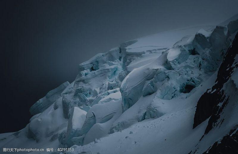 大树雪山图片