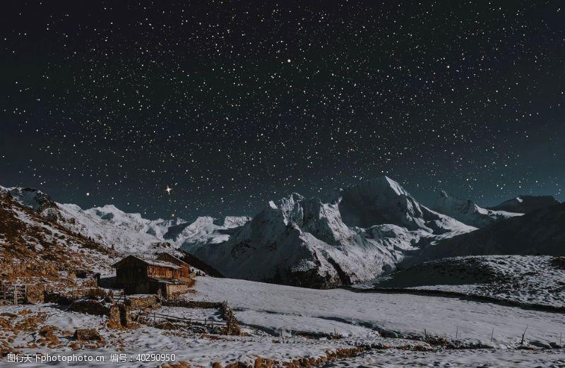 星星夜空图片
