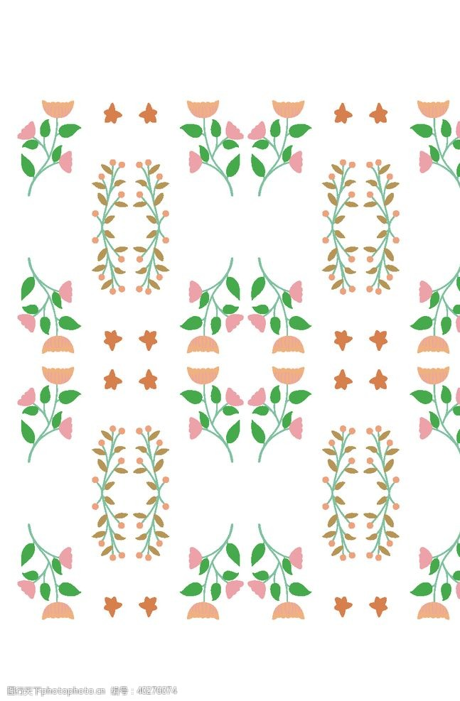 矢量背景植物叶子花纹图片