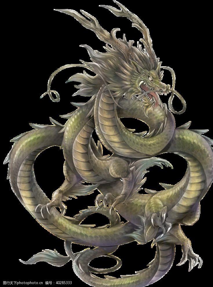 90dpi中国风金色龙元素图片