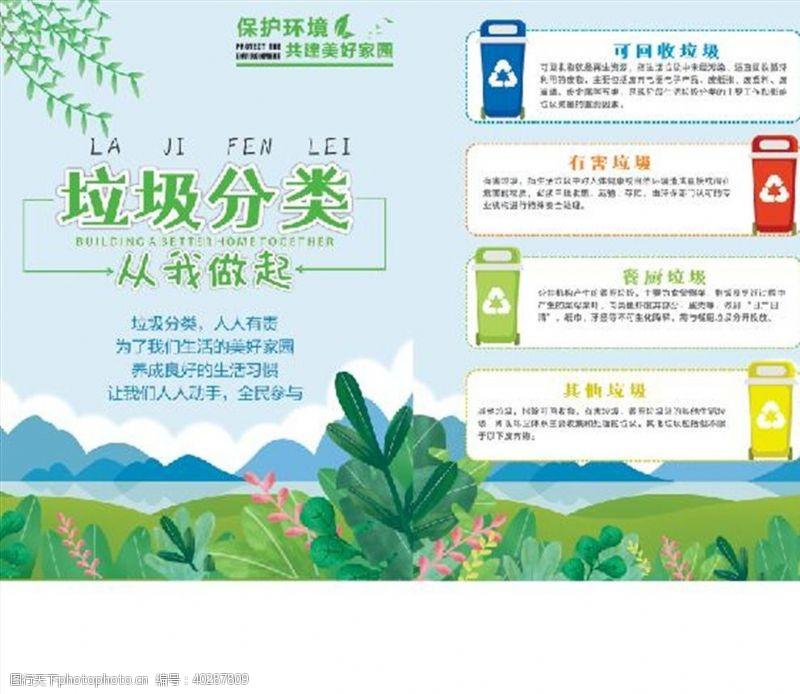 保护环境垃圾分类宣传单图片