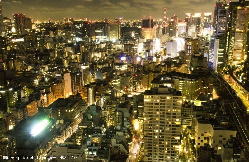 地标城市夜景图片