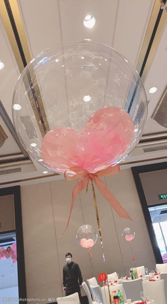 娱乐粉色透明气球图片