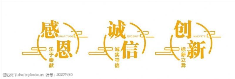 公司企业文化背景形象墙图片