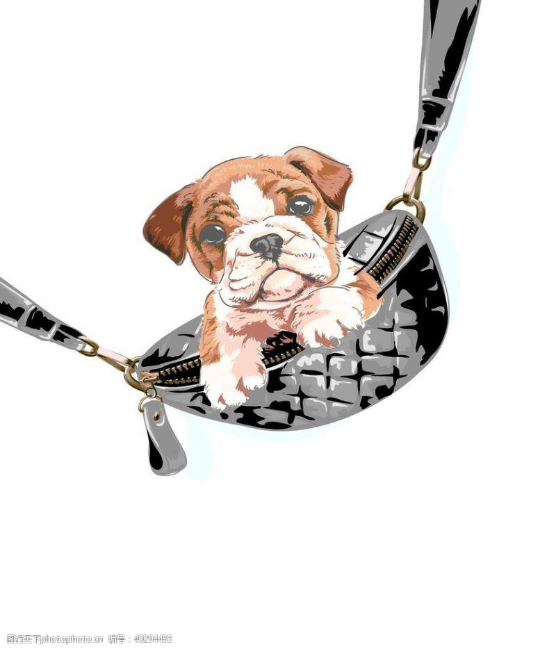 背包狗头图片