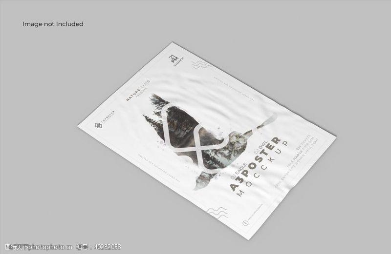 印刷海报样机图片