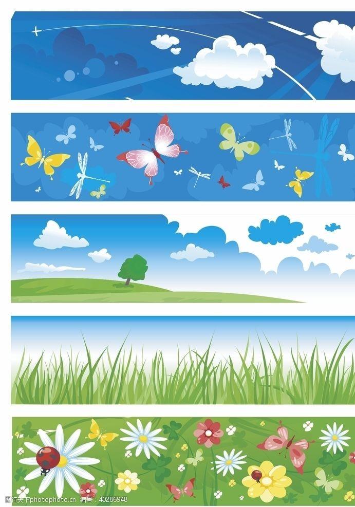 花瓣花草素材背景图片