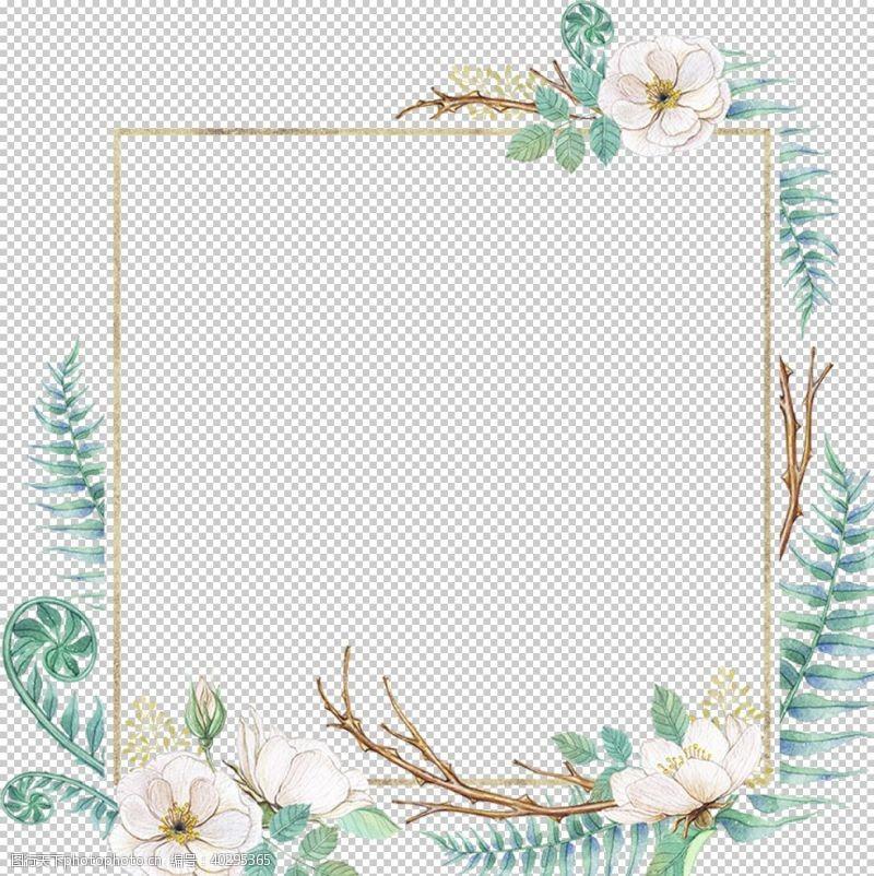 树枝花环图片