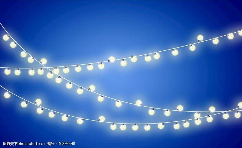 春节节日线型彩灯图片