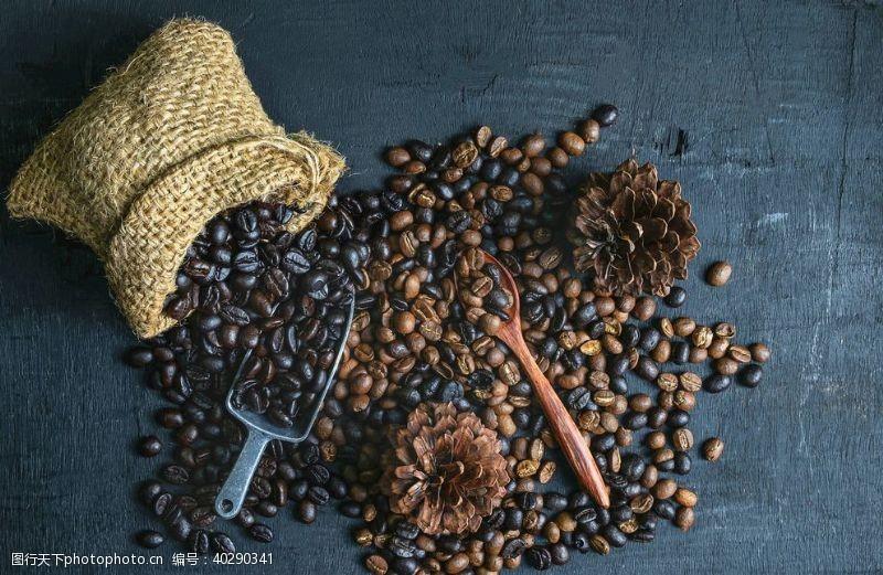优雅咖啡豆图片