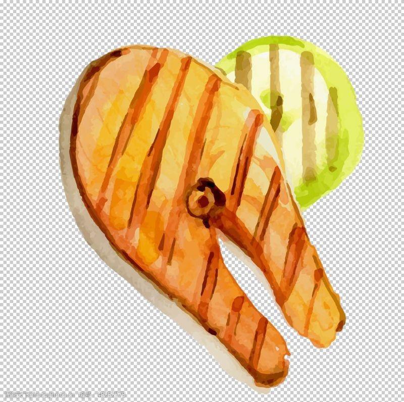 三文鱼烤鱼图片