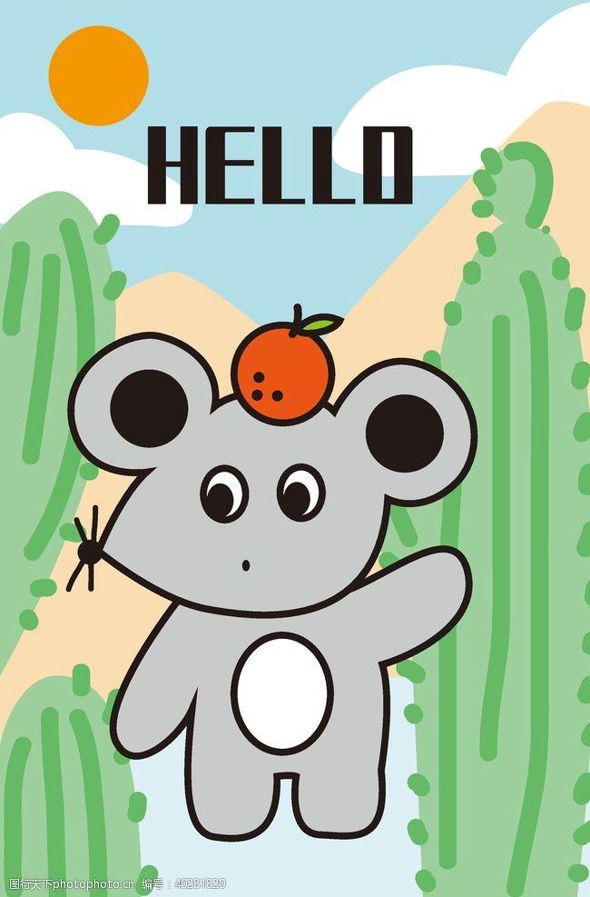 地毯卡通小老鼠图片