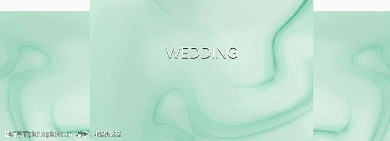 绿色背景绿色婚礼背景设计图片