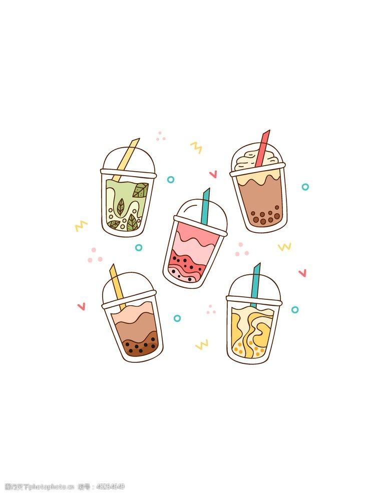 茶杯奶茶饮品图片