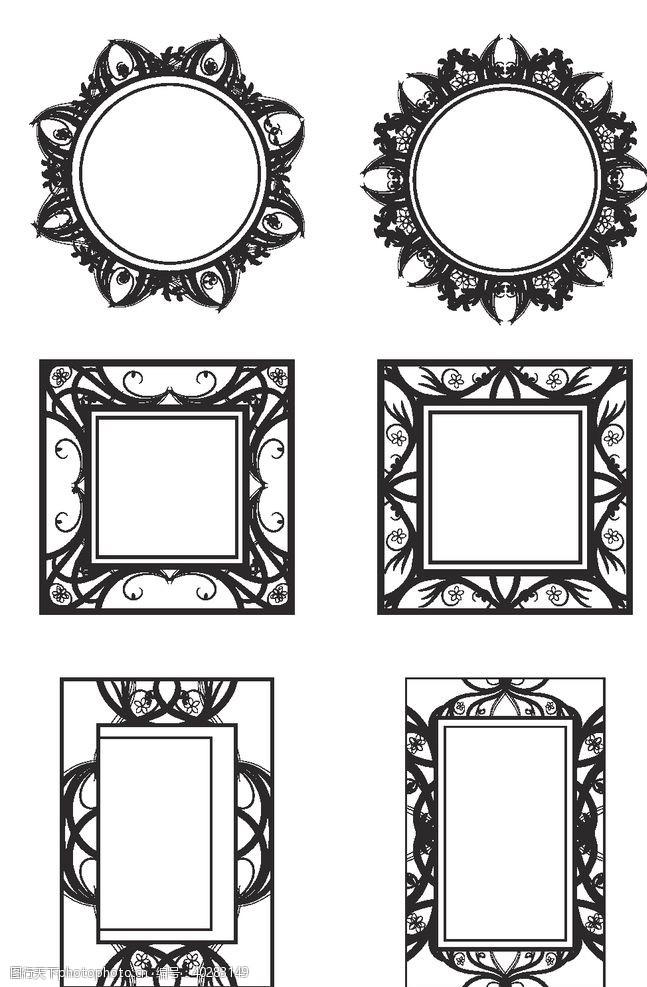 框架欧式花纹边框图片