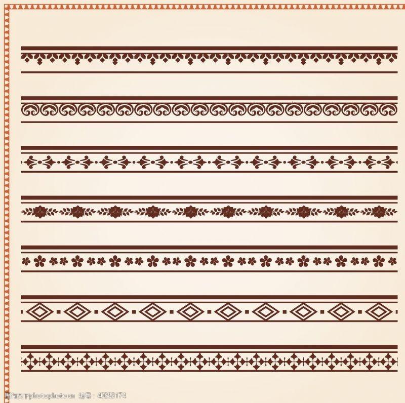古典花纹矢量复古花纹边框图片