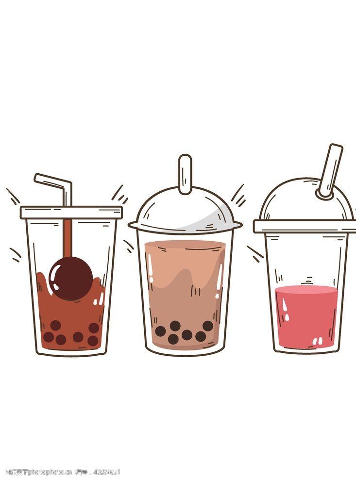 杯子矢量奶茶图片