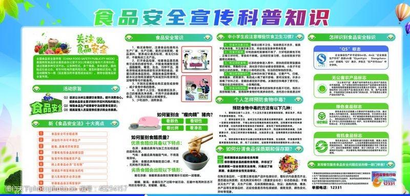 小学食品安全宣传科普知识展板图片