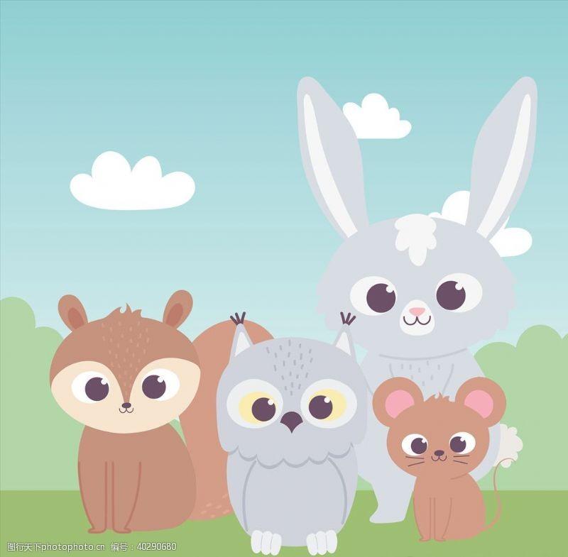 封面设计手绘淡彩动物图片