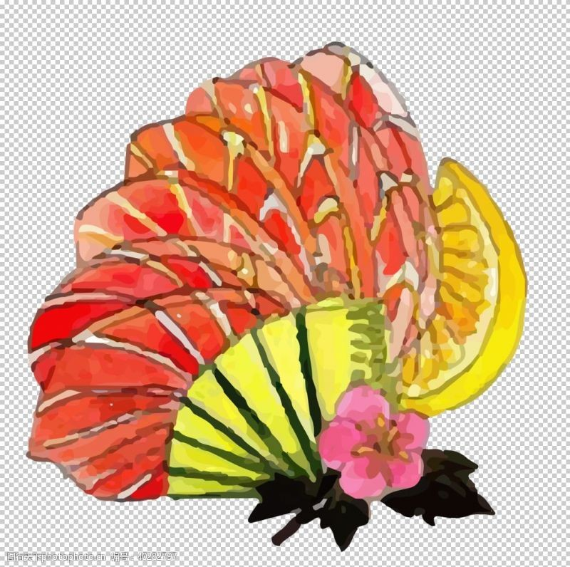 手水彩寿司图片
