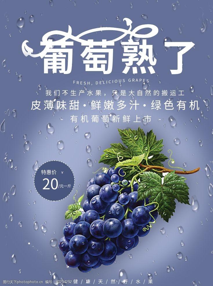绿色水果海报图片