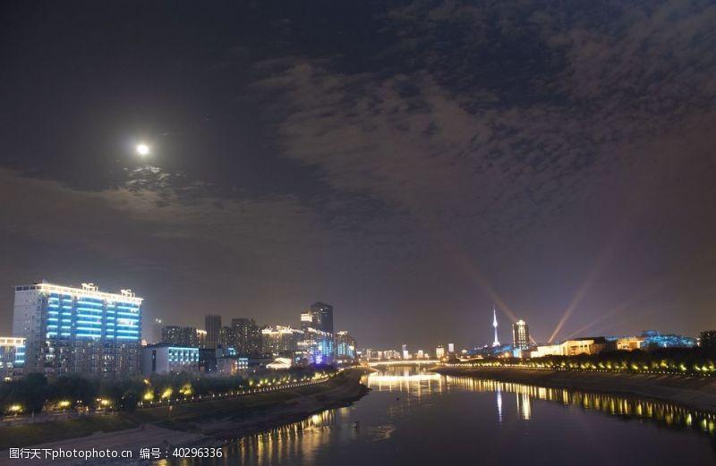 风景武汉汉江夜景图片