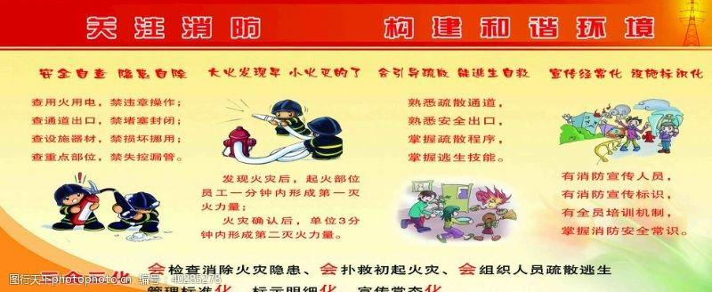 黄色背景消防图片