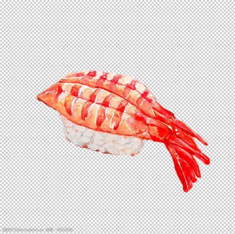 手虾寿司图片