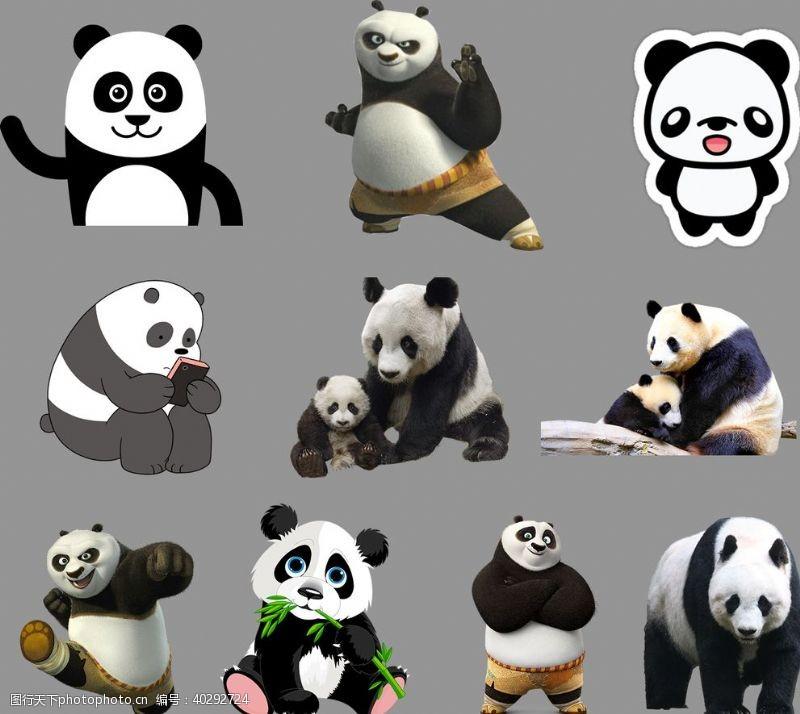 竹子熊猫图片