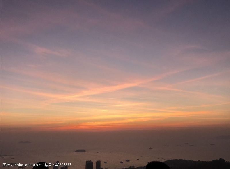 日落夕阳西下图片