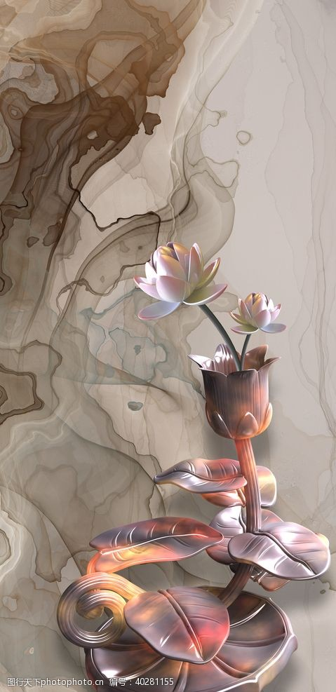 油画玄关抽象装饰画图片