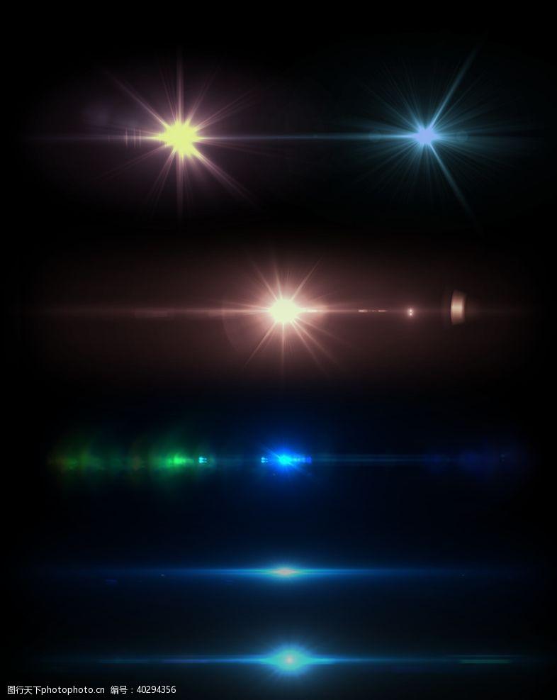 灯光炫光图片