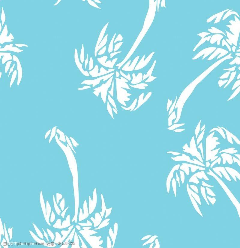 线条椰树图片