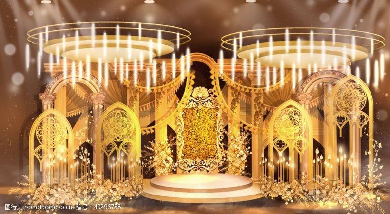 原创欧式复古古堡风格婚礼效果图图片