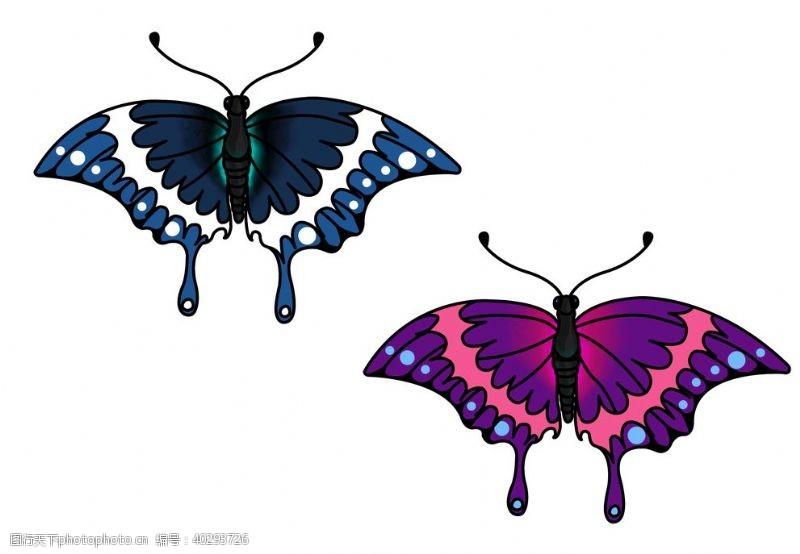 设计素材原创手绘蝴蝶png素材图片