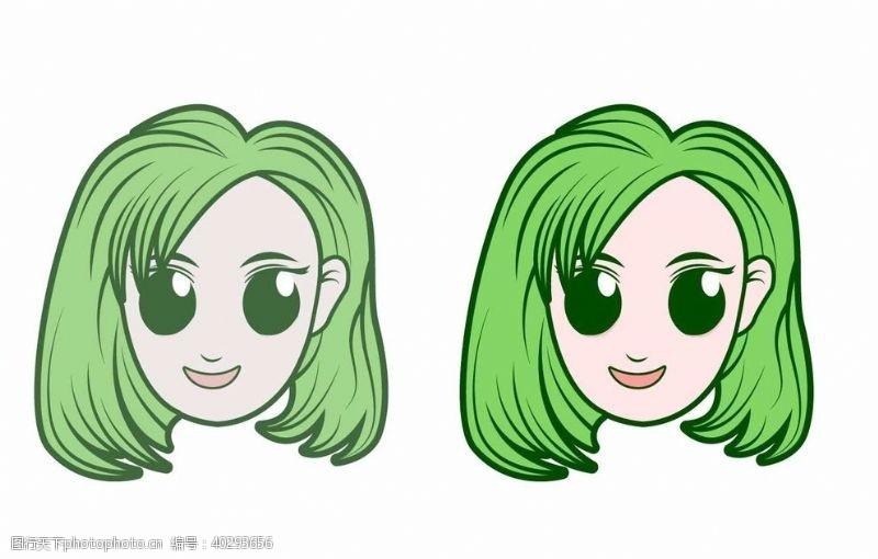 AI插画女生图片