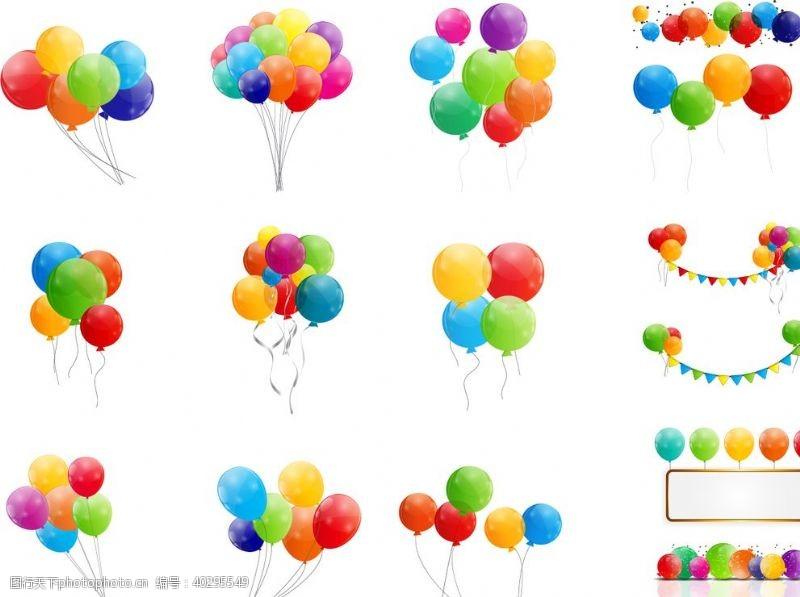 装饰彩色漂浮气球图片