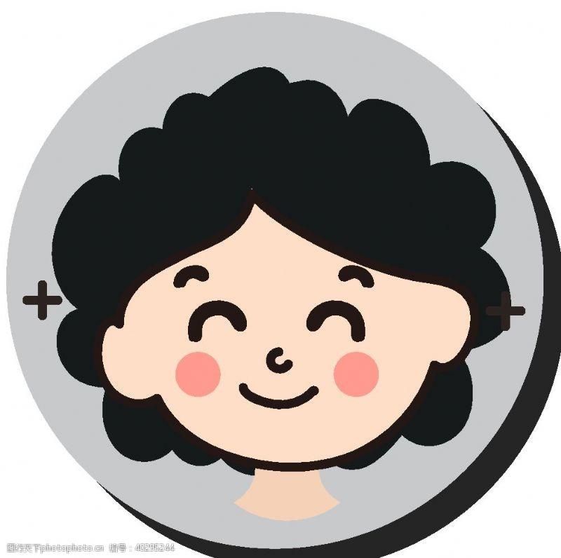 商务卡通微笑阿姨妈妈头像图片