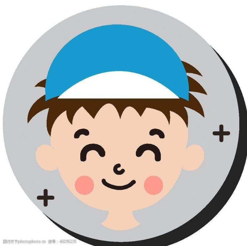 卡通人物卡通运动男孩头像图片