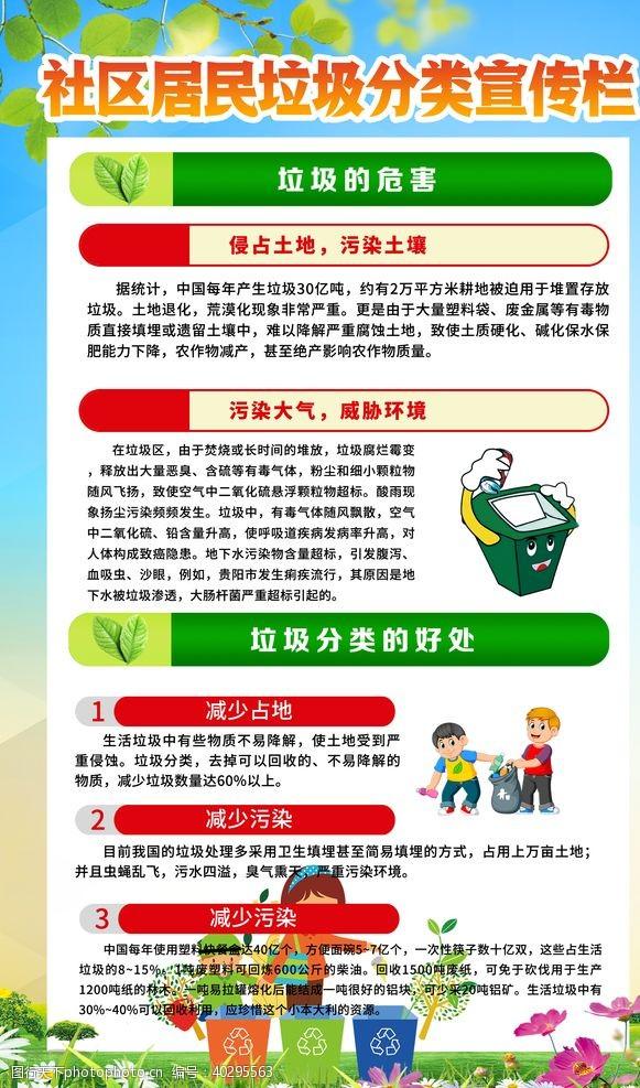 环保展板垃圾分类展板图片
