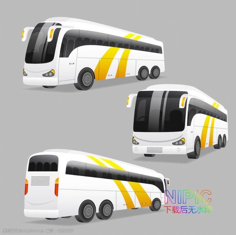 模版城市公交车格式平面图ai图片