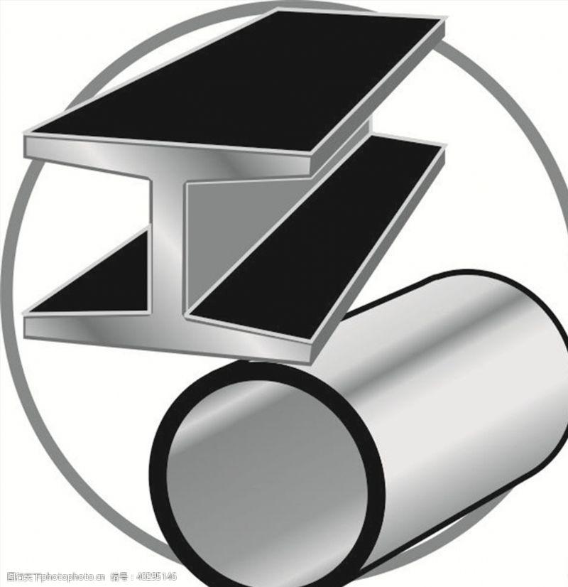 标志图标切割金属图片