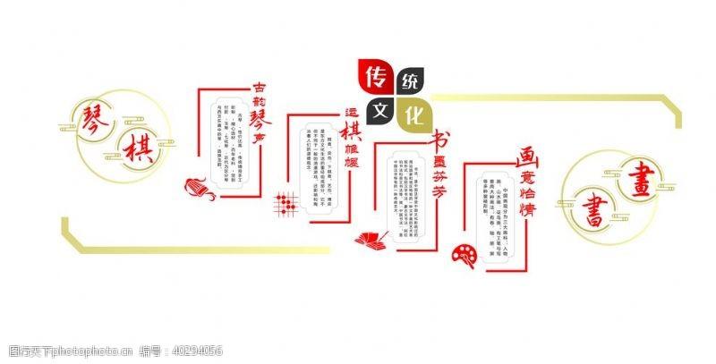 50dpi琴棋书画文化墙图片