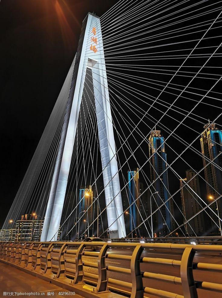 旅游摄影武汉月湖桥夜景图片