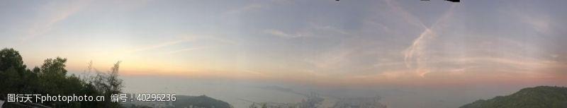 山水夕阳西下图片