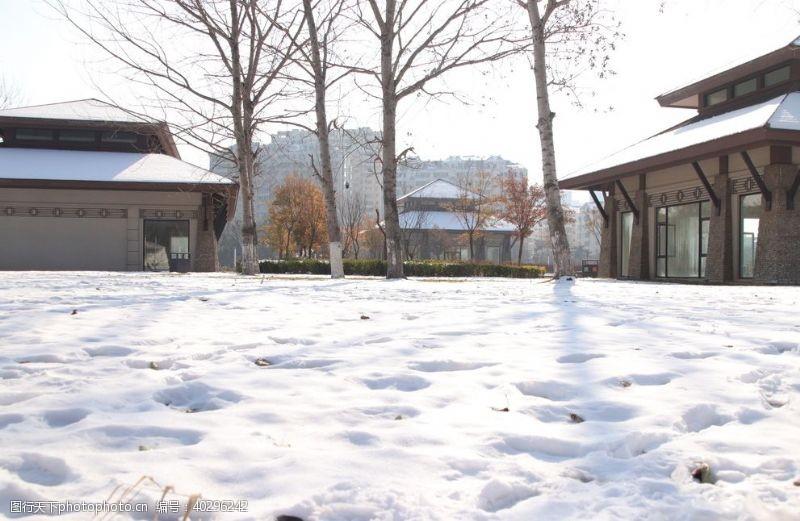 白雪雪乡积雪图片