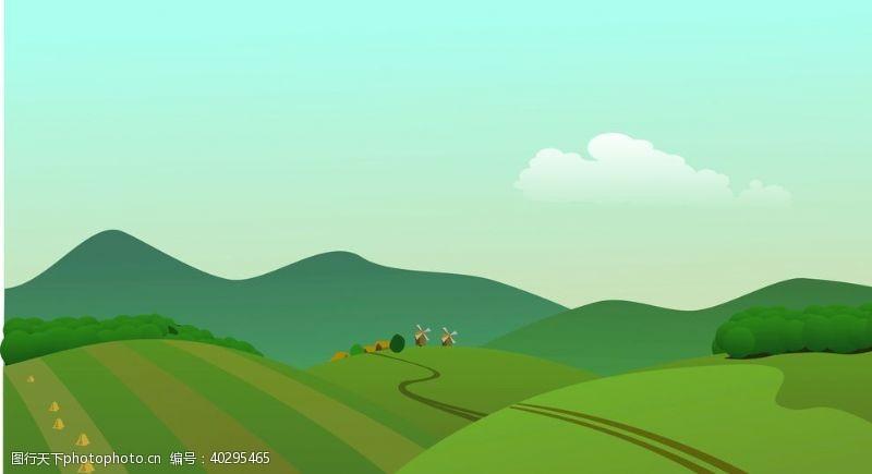 蓝天自然风景草原图片
